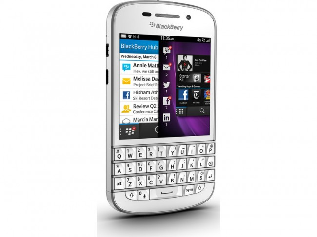 Blackberry Q10 Semi-side view